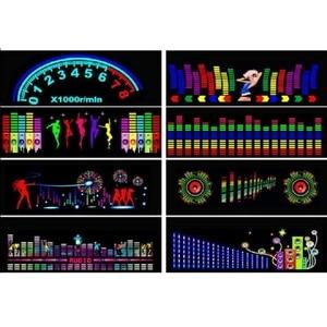 Image 4 - Voor Auto Achter Glas Led Equalizer Auto Neon El Licht Muziek Ritme Jump Flash Lamp Sticker Styling Met control Box