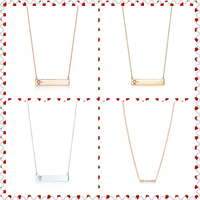 SHINETUNG 1:1 S925 Sterling Silver Genuine TIFF Gold Rose Gold Silver T Series Pendant Charm Necklace Women Fine Fashion Jewelry