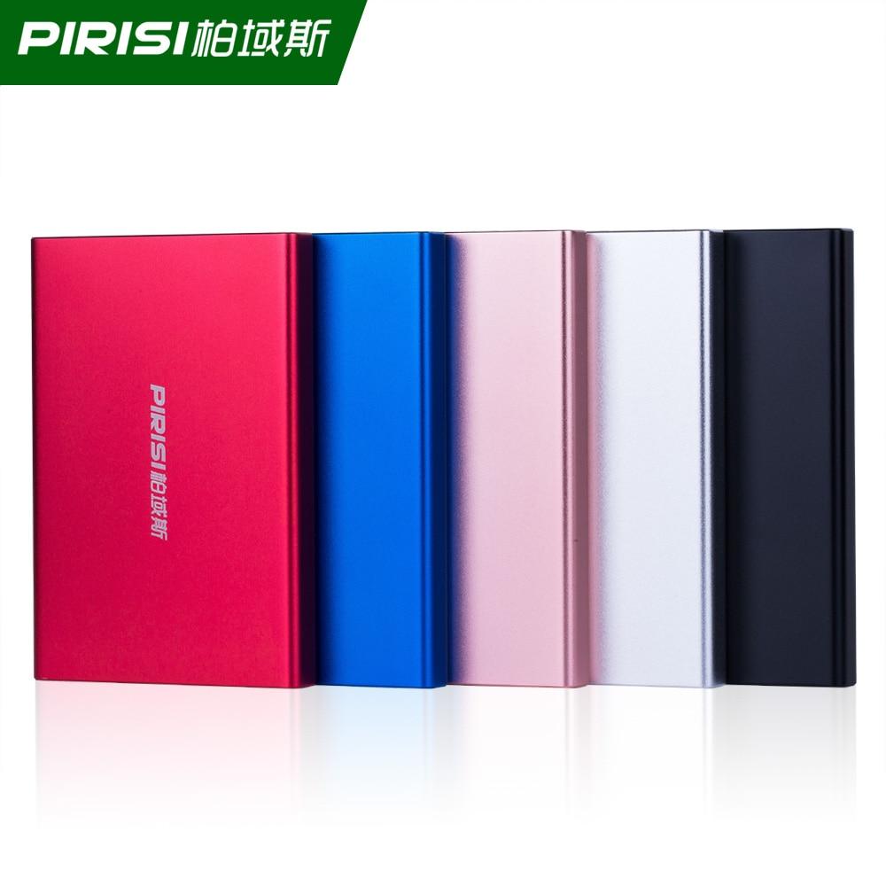 PIRISI P616I 2.5 HDD External Hard Drive 1TB Storage Shockproof Portable Hard Disk Metal Silm 5 Color