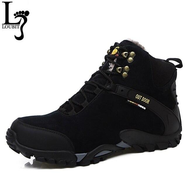 Мужская обувь 2017 зимние кожаные сапоги Мех внутри дышащей Мужские зимние сапоги модная брендовая мужская зимняя обувь Zapatos Hombre
