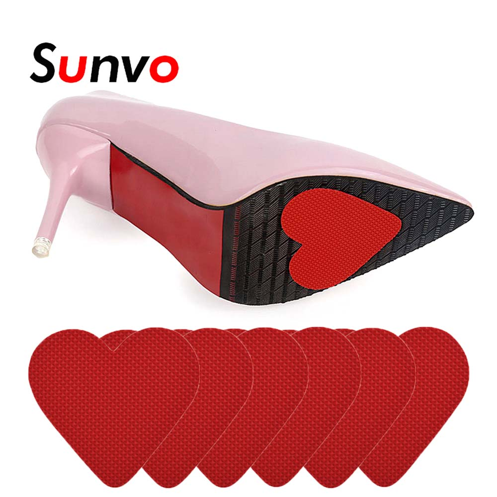 Sunvo Shoe Sole Sticker Anti-Slip For Sandal High Heel Shoes Front Mat Forefoot Pad Grip Protector Accessories Lover Gift Insert