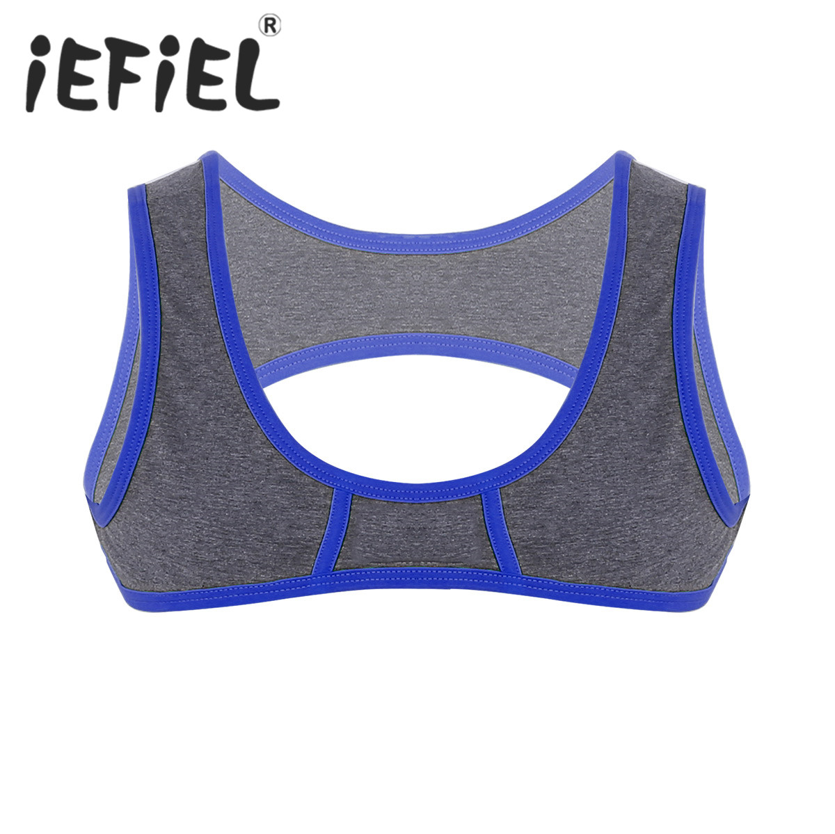 Sexy Fashion Mens Sleeveless Shoulder Chest Strap Harness Muscle Clubwear Costume Half Tank Top Nightwear Performance Clothes