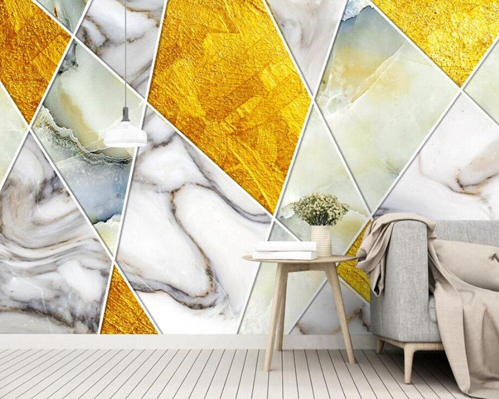 Personnalité vintage abstrait géométrique 3d papier peint papel de pared, salon canapé TV mur chambre papiers muraux décor à la maison café