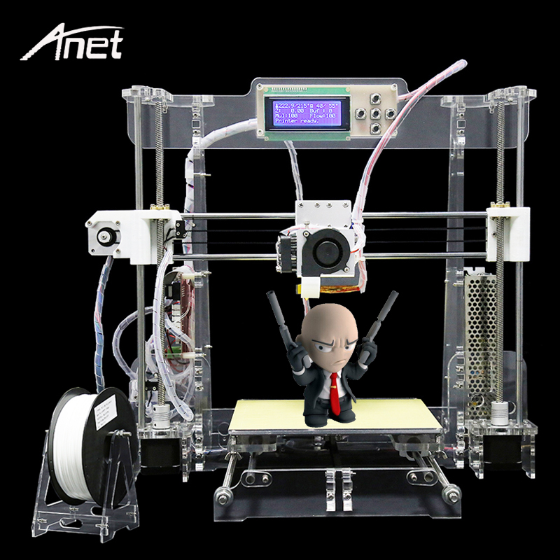 New Anet A8-T 3D Printer Desktop Precision Reprap Prusa I3 Arcylic DIY 3D Printer Kit+Filament+SD Card+Aluminum Hotbed+Tools лампочка ксеноновая maglite к арт s3 1 штука в блистере 947260