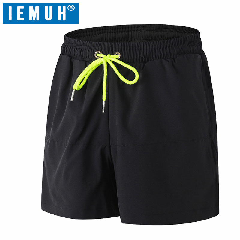 IEMUH Brand Men Swimwear Swim   Shorts   Beach   Board     Shorts   Swimming   Short   Pants Swimsuits Mens Jogger Running Sports   Shorts   Surf