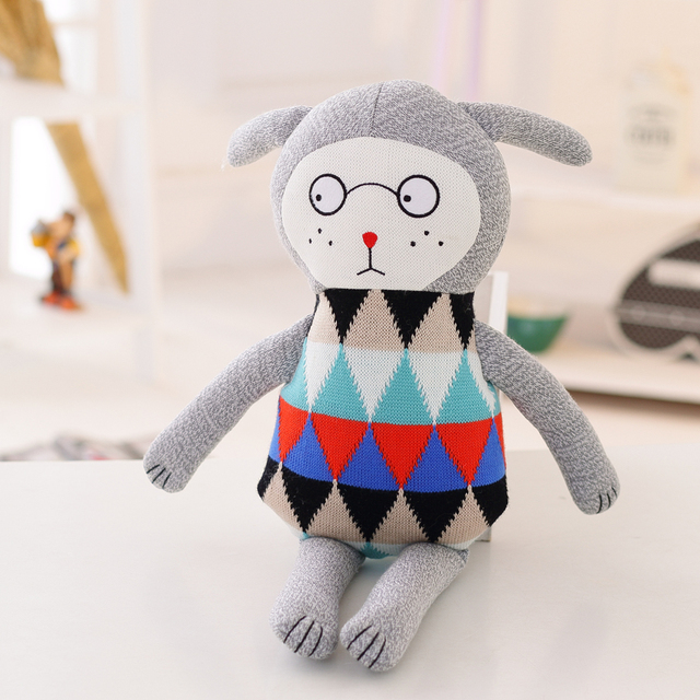 Wholesale hot style in Denmark and lovely knitting wool rabbit doll - LUCKY BOY SUNDAY  WJ015-022