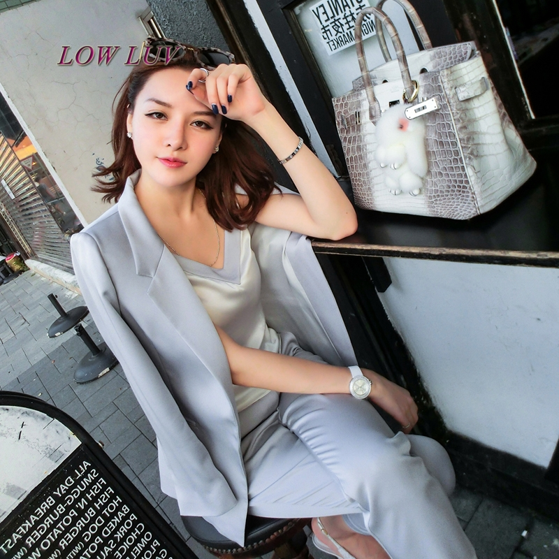 2017 Fall fashion suit suit female career suit jacket and long sections temperament casual two-piece pants tideThe Newdo tb316