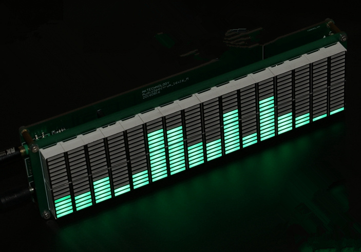 <font><b>16</b></font> <font><b>segment</b></font> LED frequency display Board frequency spectrum Display panel LED display production board Audio spectrum display led image