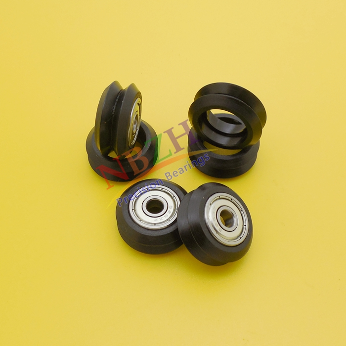 10pcs CNC Openbuilds Plastic wheel POM with Bearings W type double V type W groove V groove passive wheel pulley for V-slot 3d printer flat type big plastic wheel pulley with ball bearings passive round wheel idler pulley gear perlin wheel