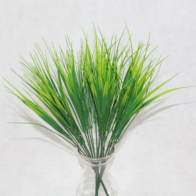 7 Fork water grass Eucalyptus Plastic Artificial Plants Green Grass plastic flower Plant Wedding Home Decoration Table Decors 3