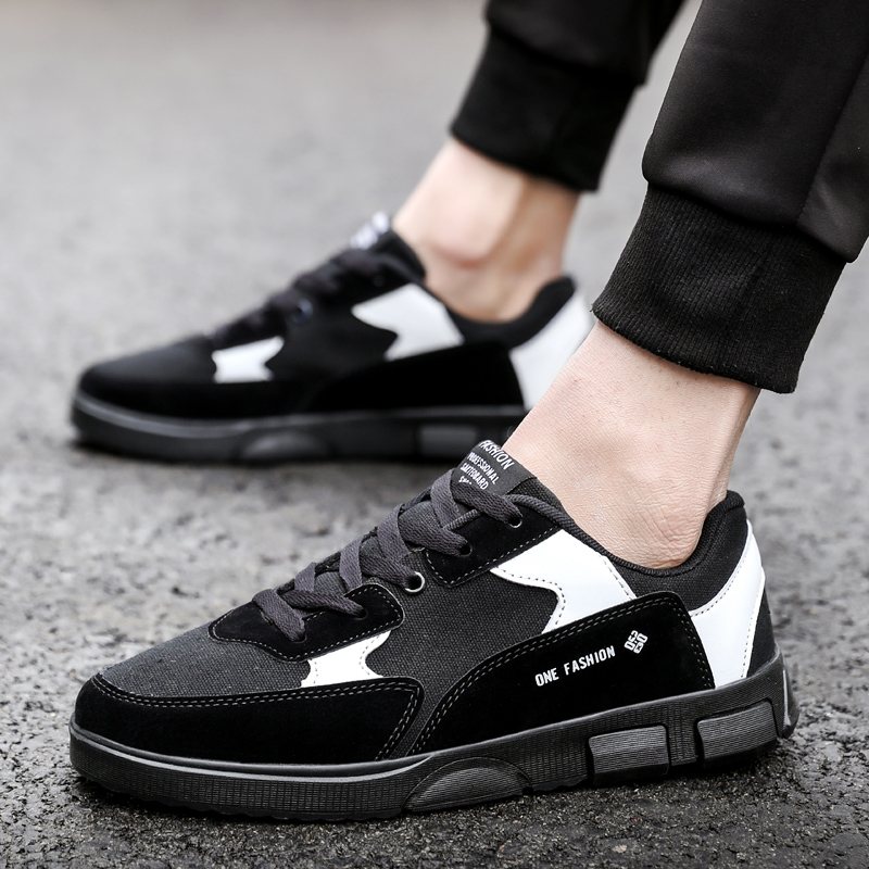 2018 New Fashion skate sneakers shoes men platform lace low mens casual shoes for men mixed colors Plus Size 39-46 Footwear