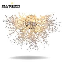 Современный Одуванчик светодио дный заподлицо потолочный светильник прозрачный кристалл лампы для Кухня Спальня Гостиная фойе элегантный