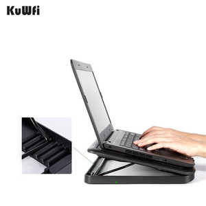 Image 2 - 5 LED Fans Plastic Notebook Cooling Pad 6 Steps Adjustable Tablet Laptop Cooler Suit For 15.6 Inch And Below With 2 USB Port