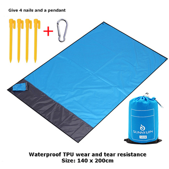 New portable folding beach mat Outdoor camping pocket Spring picnic FC0166