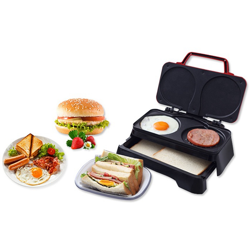 DMWD 3 In 1 Multifunction Breakfast Maker 220V Egg Sandwich Hamburger Maker Hotdog Ham Sausage Bread Toaster Non-stick Bakeware цена