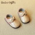 babyfeet Spring and Autumn children shoes baby girls princess Child girl toddle shoes breathable PU Leather Bow tie non-slip