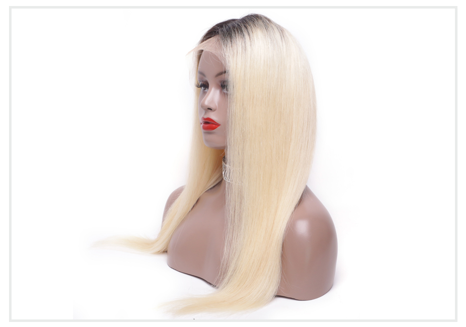ombre blonde Lace Front Wig6