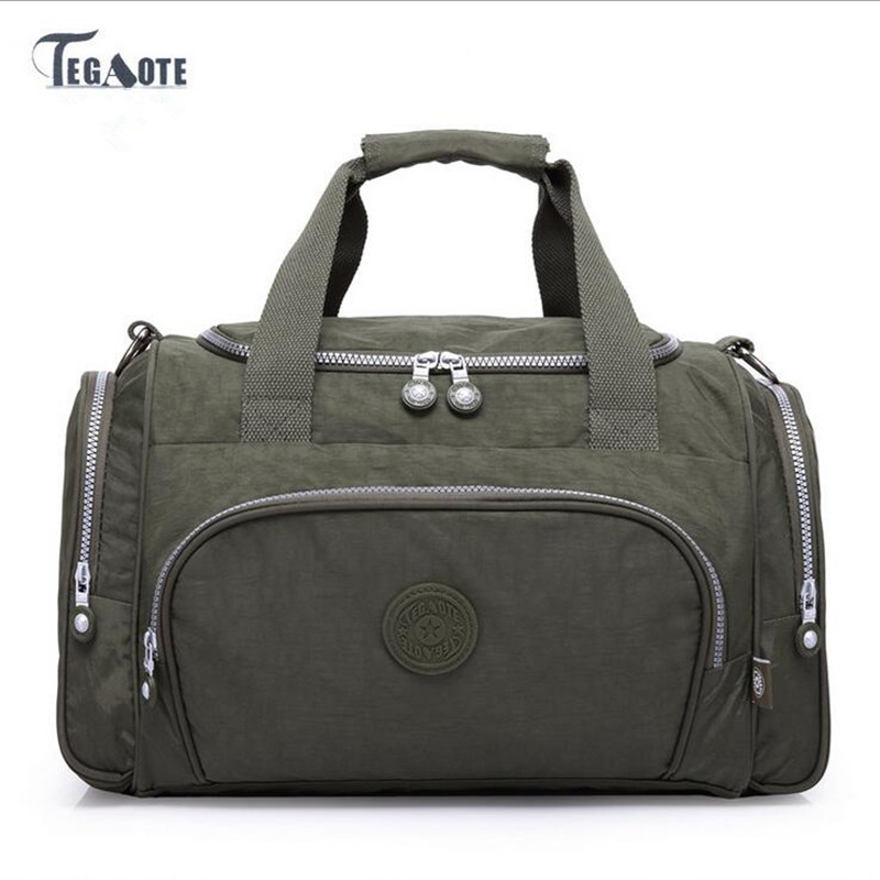 TEGAOTE 2017 Women light Travel Bags Large Capacity Duffle Luggage Big Casual Tote Bag Nylon Waterproof Bolsas Female Handbags tegaote newest women travel bags large capacity duffle luggage big casual tote bag nylon waterproof bolsas female handbags