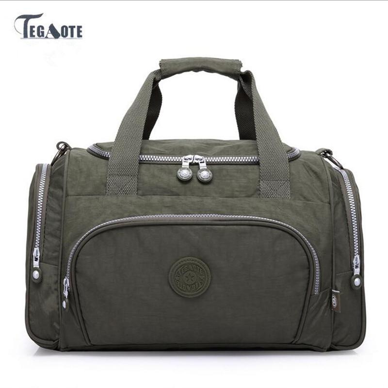 купить TEGAOTE 2017 Women light Travel Bags Large Capacity Duffle Luggage Big Casual Tote Bag Nylon Waterproof Bolsas Female Handbags по цене 3535.19 рублей