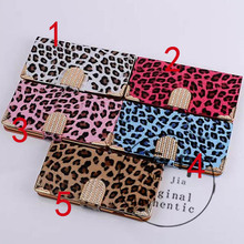 10pvs/lot Newest Luxury Just Cavallis Leopard /Print Case Cover for Apple for iphone 6 plus 5.5 wallet phone capa celular