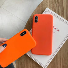 Scrub Orange Solid Color Cover Cases For Huawei Nova 4 3 3i 3e P10 P20 Mate 10 20 Lite Pro Honor 8 8X 8A 9i 10 Lite P Smart Capa(China)