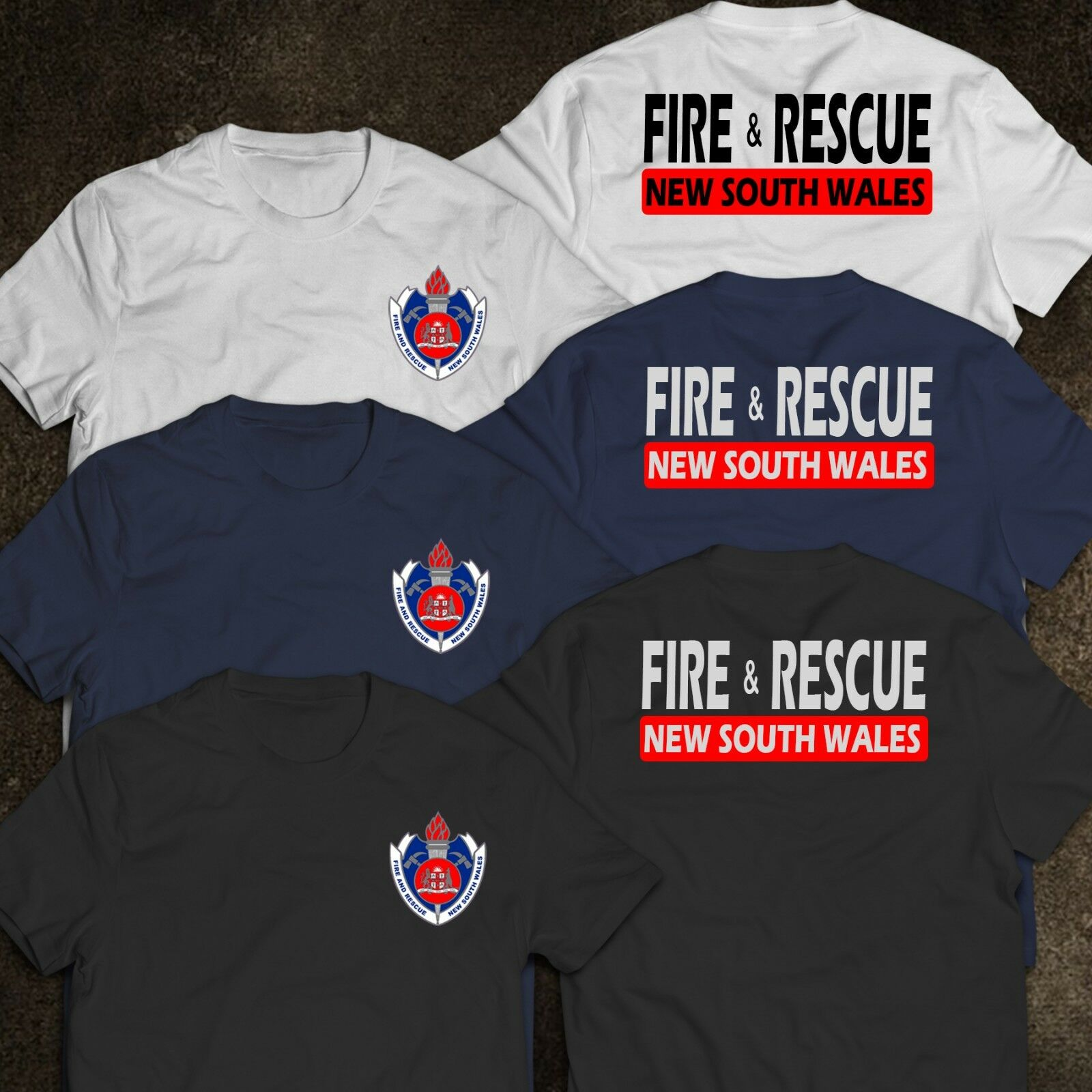 2019 Funny New South Wales Firefighter Fire Department Rescue Rare Australia Logo T-Shirt Double Side Unisex Tee