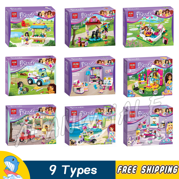9types Friends Series Animals Stephanie Mia Olivia Andrea Model Building Blocks Bricks Girls Toys Gifts Set Compatible With Lego ...
