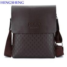 HENGSHENG Newly design PU Leather men shoulder bag of fashion business men crossbody bag for polo