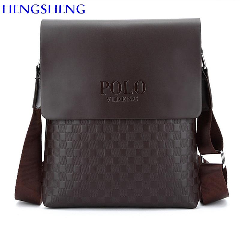 HENGSHENG Newly design PU font b Leather b font men shoulder bag of fashion business men