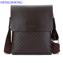 HENGSHENG Newly design PU Leather men shoulder bag of fashion business men crossbody bag for polo men messenger bags
