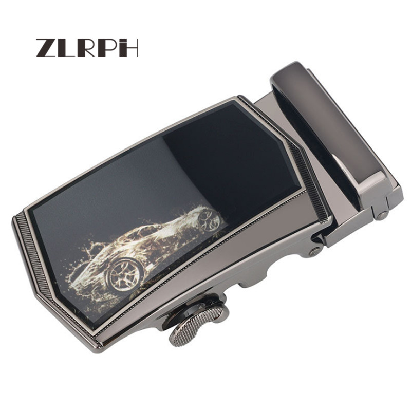 ZLRPH Famous Brand Belt Buckle Men Top Quality Belts Buckle For Men 3.5 Cm Strap Male Metal Automatic Buckle Frosted Surface