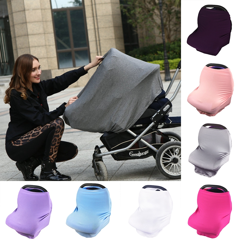 Multi-Use Stretchy Newborn Infant Nursing Cover Baby Car Seat Canopy Cart Cover baby car seat cover canopy nursing cover multi use stretchy infinity scarf breastfeeding shopping cart cover high chair cover