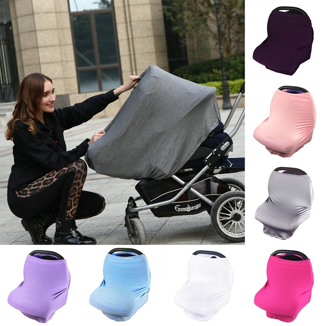 Multi Use Stretchy Newborn Infant Nursing Cover Baby Car Seat Canopy Cart