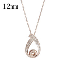 Newest Delicate Rhinestone Tassel Pendant Necklace women Jewelry fit 12mm snap button birthday gifts цены