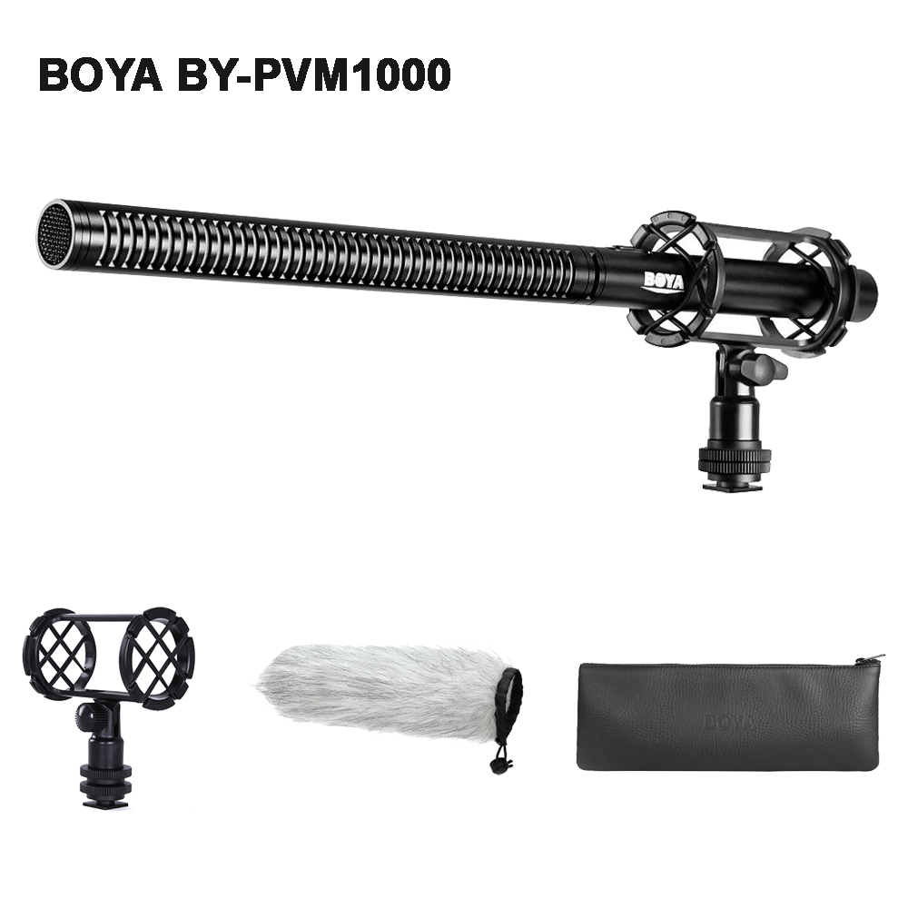 BOYA BY-PVM1000 Professional DSLR Condenser Shotgun Video Interview Microphone Mic For Canon Nikon Sony DSLR Camera Camcorder
