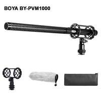 BOYA BY PVM1000 Professional DSLR Condenser Shotgun Video Interview Microphone Mic for Canon Nikon Sony DSLR Camera Camcorder