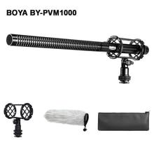 BOYA BY PVM1000 profesjonalny mikrofon pojemnościowy DSLR Shotgun wywiad wideo mikrofon do aparatu Canon Nikon Sony lustrzanka cyfrowa