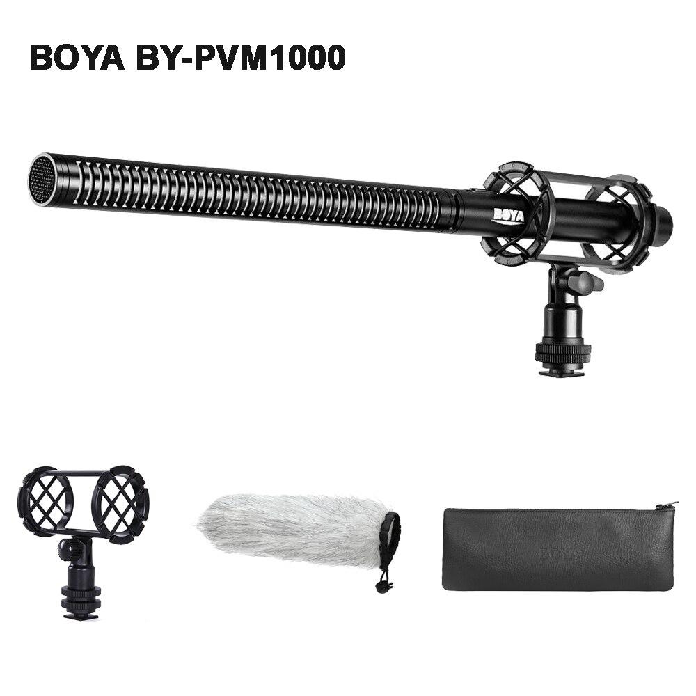 BOYA BY-PVM1000 reflex numérique professionnel Condenseur Shotgun Vidéo microphone entretien Mic pour Canon Nikon Sony DSLR Appareil Photo Caméscope