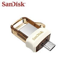 SanDisk – clé USB 3.0 SDDD3 OTG, support à mémoire de 64GB et 32GB, support à mémoire de 150 mo/s, pour Android et ordinateur