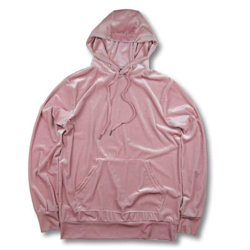 2018 velvet NEW mens hip hop hoodies sweat men Loose hoodies mens tracksuit set Autumn male Sweatshirts Clothing Streetwear
