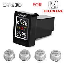 CAREUD U912 Car Wireless TPMS Tire Pressure Monitoring System with 4 External Sensors LCD Display Embedded Monitor For Honda