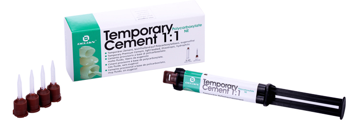 Dental Temporary Cement 1:1 Polycarboxylate NE Prosthetics Temporary Fixation Material for Crowns and Bridges