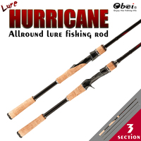 spinning casting carbon fishing rod obei portable travel spin cast 1.8m 2.1m 2.4m 2.7m 3 section ultra light lure fishing rod
