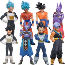 Conjunto de Destruir Deus Beerus 4 Super Saiyan Goku Vegeta Trunks PVC Action Figure Dragon Ball Z DXF Collectible modelo Bonecas Brinquedos(China)