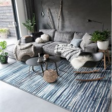 Mysteriou blue and green mixed geometric tatami ground mat 160*230cm bedside carpet, office floor , door