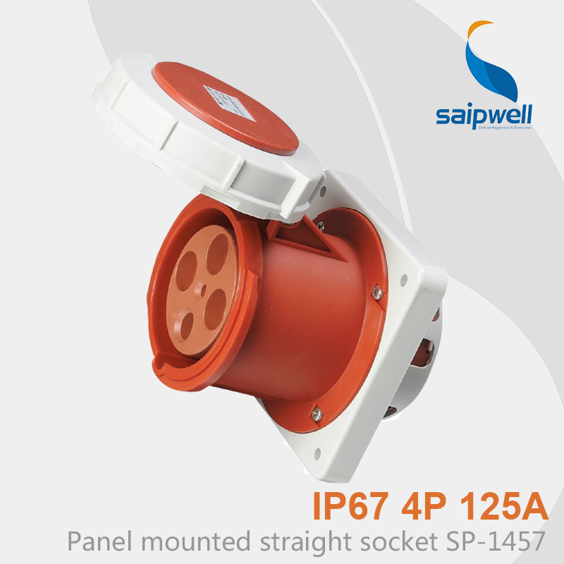Saipwell Hot Sale IP67 Waterproof Industrial Electrical Plugs and Sockets 4P 125A SP-1457