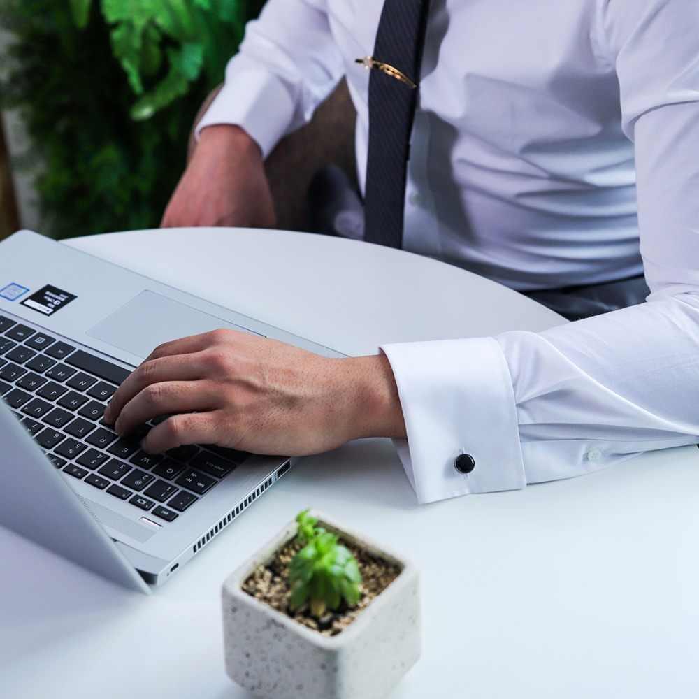 MAISHENOU fransız moda gömlek erkekler için kol düğmeleri marka düğün hediye düğmeleri siyah manşetleri kol düğmeleri yüksek kaliteli mücevher