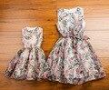 2016 Matching Mãe Filha Roupas Família Olhar Correspondência Vestido de Mãe e Filha Roupa Pai-Filho Mãe e Filha Maxi vestido