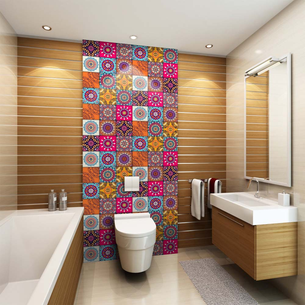 Купить с кэшбэком Creative Moroccan style PVC retro living room bedroom wallpaper wall sticker kitchen oilproof bathroom waterproof sticker