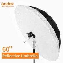 Godox 60 inch 150cm Silver Black Reflective Umbrella Studio Lighting Light Umbrella with Large Diffuser Cover